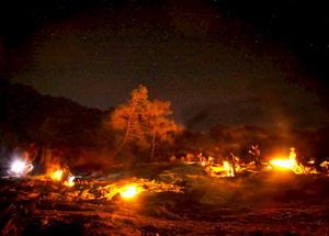 Гора Янтараш ночью
