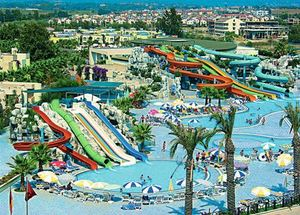 Панорама аквапарка отеля Von Club Golden Beach 5* в Сиде