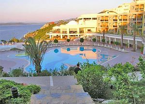 Вид на отель Bodrum Princess De Luxe Resort Spa