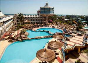 Панорама отеля SeaGull Beach Resort 4* Хургада Египет
