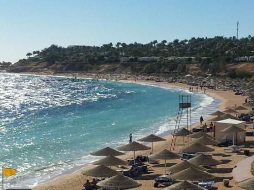 Пляж отеля Domina Prestige Coral Bay 5*