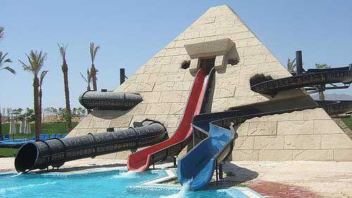 """Водная горка """"Потерянная пирамида"""" в аквапарк Клео-парк"""