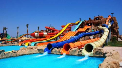 Водные горки в отеле Albatros Aqua Blu Sharm 5*