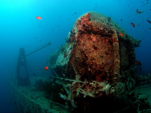 Корабль Тислегорм под водой